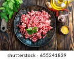 raw minced meat | Shutterstock . vector #655241839