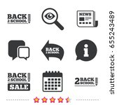 back to school sale icons.... | Shutterstock .eps vector #655243489