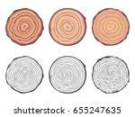 natural tree rings background... | Shutterstock .eps vector #655247635