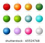 christmas ornaments | Shutterstock .eps vector #65524768