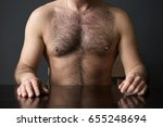 closeup of hairy chest of man... | Shutterstock . vector #655248694