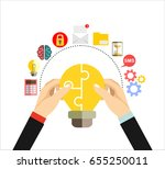 collaboration concept.... | Shutterstock .eps vector #655250011