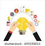 collaboration concept.... | Shutterstock .eps vector #655250011