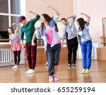 group of young hip hop dancers... | Shutterstock . vector #655259194