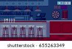 bar restaurant with counter in... | Shutterstock . vector #655263349