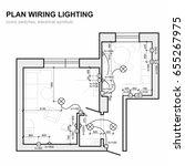 plan wiring lighting....   Shutterstock .eps vector #655267975
