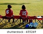 a pair of soccer players watch... | Shutterstock . vector #655269