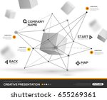 3d abstract background with... | Shutterstock .eps vector #655269361