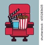 cinema related icons | Shutterstock .eps vector #655283635