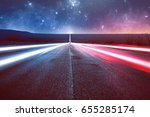 street below a sky with stars | Shutterstock . vector #655285174