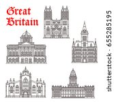 great britain landmark... | Shutterstock .eps vector #655285195