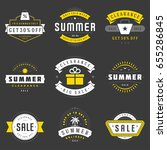 summer season sale badges and...   Shutterstock .eps vector #655286845