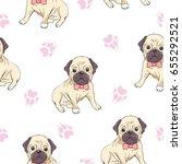 bulldog pattern  vector ...   Shutterstock .eps vector #655292521