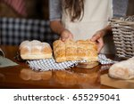 mid section of woman holding... | Shutterstock . vector #655295041