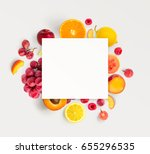 creative layout made of various ... | Shutterstock . vector #655296535