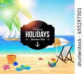 summer time and holiday... | Shutterstock .eps vector #655297501