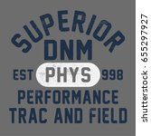 vintage athletic varsity... | Shutterstock .eps vector #655297927