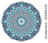 mandala flower decoration ...   Shutterstock .eps vector #655309105