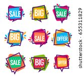 super sale  vector collection... | Shutterstock .eps vector #655311829