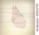 vector of heart cardiogram.... | Shutterstock .eps vector #655312795