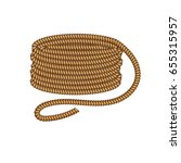 coil of dynamic sailor rope....   Shutterstock .eps vector #655315957
