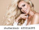 portrait of a beautiful ... | Shutterstock . vector #655316395