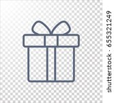 gift icon flat. | Shutterstock .eps vector #655321249