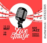 Live Music Poster With A...