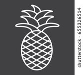 Pineapple Line Icon  Fruit And...