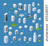isometric set 3d city | Shutterstock . vector #655328557