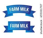 farm milk ribbon vector | Shutterstock .eps vector #655331707