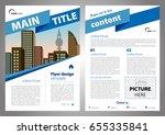 vector flyer  corporate... | Shutterstock .eps vector #655335841