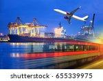 transportation concept ... | Shutterstock . vector #655339975