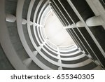 tunnel to the sky  | Shutterstock . vector #655340305