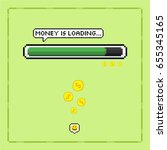 pixel art style money is... | Shutterstock .eps vector #655345165