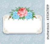invitation or greeting card... | Shutterstock .eps vector #655347859