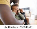 unrecognizable afro american... | Shutterstock . vector #655349641