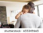 unrecognizable afro american... | Shutterstock . vector #655349665