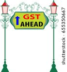 gst is a single tax on the... | Shutterstock .eps vector #655350667