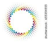 Colorful Halftone Circle Frame...