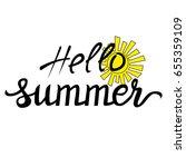 card template with handwritten...   Shutterstock . vector #655359109