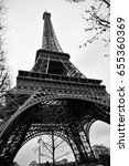 paris   jan 1  eiffel tower on... | Shutterstock . vector #655360369
