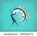 business concept. businessman... | Shutterstock .eps vector #655362271