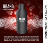 premium shampoo ads. realistic... | Shutterstock .eps vector #655362391