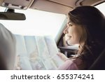 travel. couple is traveling in... | Shutterstock . vector #655374241