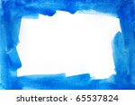 water color frame - stock photo