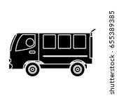 van vehicle icon | Shutterstock .eps vector #655389385