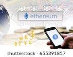 "concept of  ""ethereum""   a... | Shutterstock . vector #655391857"