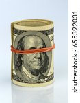 many dollar bills | Shutterstock . vector #655392031