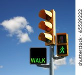 Traffic Lights With Walk And...